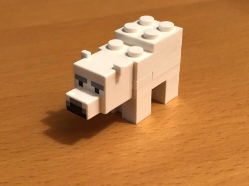 RARE LEGO MINECRAFT BABY POLAR BEAR FROM SET 21142