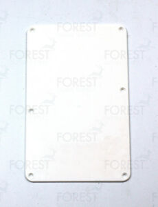 Fender Stratocaster ® aftermarket back spring cover plate white ABS plastic - España - Fender Stratocaster ® aftermarket back spring cover plate white ABS plastic - España