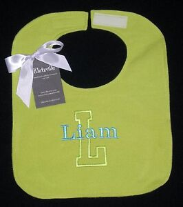 Personalized-Flannel-Bib-size-L-Name-and-Initial