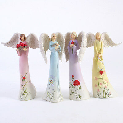Beautiful Gift Resin Colourful floral angel ornament figurine - choice of 4