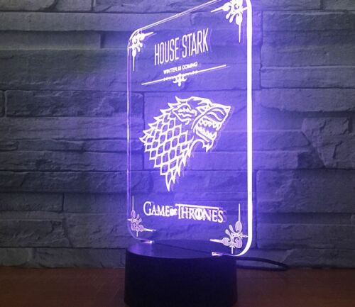 Night Light Acrylic Lamp LED Game Of  Thrones Home Deco Touch Light Gift Toy Hot