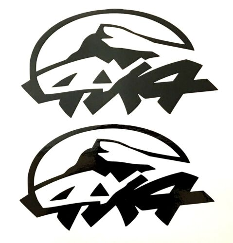 2 RED 4X4 OFF ROAD DECALS STICKER 4WD TRUCK FORD CHEVY DODGE TOYOTA GMC LOGO