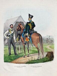 Prussia-Military-Uniform-Cuirassier-Hussar-Harnisch-Raupenhelm-Sergeant-Attila