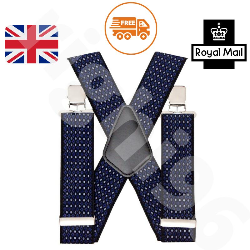 50mm Adjustable Mens Braces Highly Elastic Suspenders Heavy Duty Trouser Style
