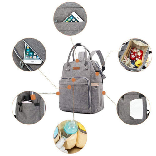 Diaper Large Bag Multi-Function Waterproof Travel Backpack Nappy Bags Baby Care