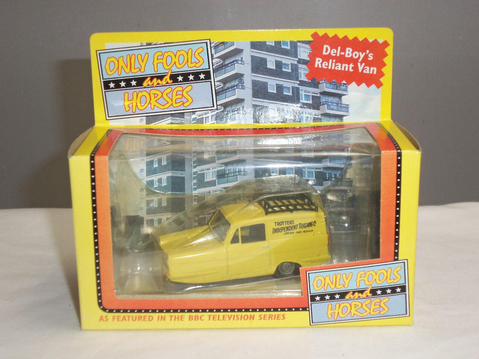 Lledo sólo los tontos y caballos giallo Robin Reliant Regal Diecast Modelo van