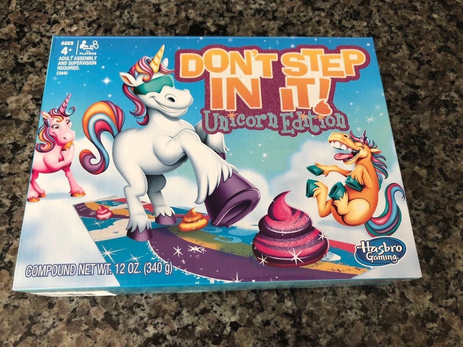 Dont Step In It Unicorn Edition Hasbro Game -Brand New HTF