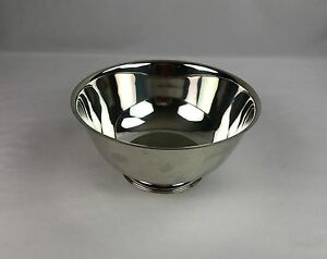 """Vintage Wm. Rogers Silver Plate Paul Revere Reproduction Bowl 10"""" Footed Bowl"""