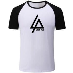 Rock-Band-Linkin-Park-Camisetas-Masculina-L-P-Print-Men-Boy-Casual-T-Shirts-Tops
