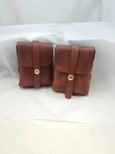 Brown leather belt pouch one