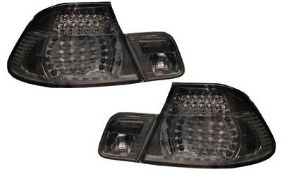 LED Back Rear Tail Lights Lamps Smoked Black Fits BMW E46 Coupe From 4//03 On
