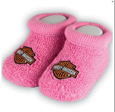 Harley-Davidson Baby Infant Boxed Terry Booties-1629,1633,1635,1637