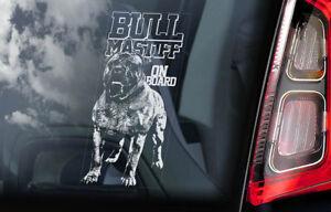 Bullmastiff-a-Bordo-Coche-Ventana-Pegatina-Toro-Mastiff-Perro-Signo