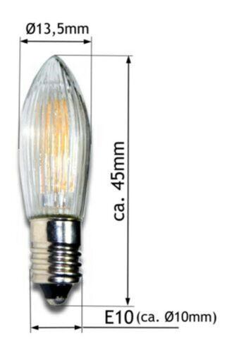 E10 LED Ersatzbirnen Top Kerze für Lichterketten Lampe 10V-55V AC Wholesale