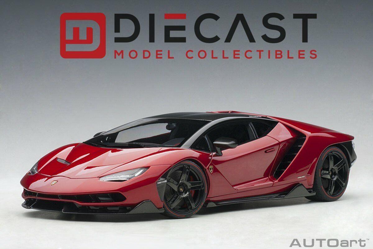 Mercancía de alta calidad y servicio conveniente y honesto. Autoart 79112 Lamborghini Centenario (rojo Efesto Rojo Metálico) Metálico) Metálico) 1 18TH Escala  Precio por piso