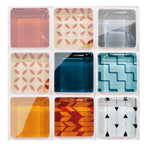 10//19pcs PVC Impermeable Azulejo de Mosaico Adhesivo Pared Kitchen Suelo Decor