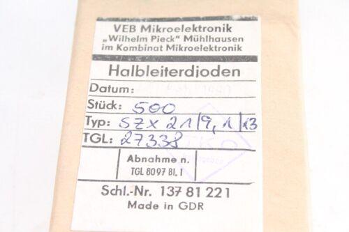 50 x Halbleiterdioden SZX 21//9,1//13 Diode Dioden 50 Stück