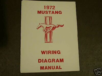 1972 Ford Mustang Wiring Diagram Manual | eBay