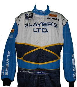 JACQUES-VILLENEUVE-RARE-1996-INDY-500-PLAYER-039-S-CREW-SUIT-NOT-F1