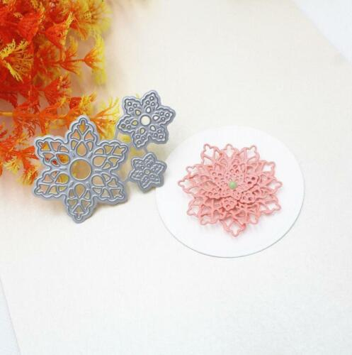 Flower Cutting Dies Stencil DIY Scrapbooking Embossing Paper Card Craft Decor