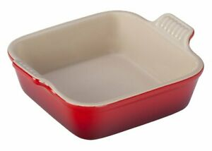 Le-Creuset-Heritage-Cherry-Red-Square-Dish-2-Qt-8-x-8-Stoneware-Baking-Dish