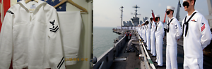 ORIGINAL   UNIFORM NAVY SEAL, US NAVY. WHITE. SIZE M. F71. uk  order now with big discount & free delivery
