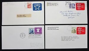 US-Cover-Postal-Stationery-4-Piece-Stationery-Rnd-4-Letters-I-6467