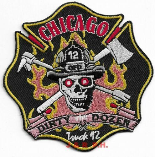 "Illinois  /""Dirty Dozen/"" fire patch 4/"" x 4/"" 12 *NEW* Chicago Truck"