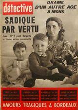 Détective n°769 - 1961 - Drame de Sète - Marseille St Loup - M.Callas -Baussaint