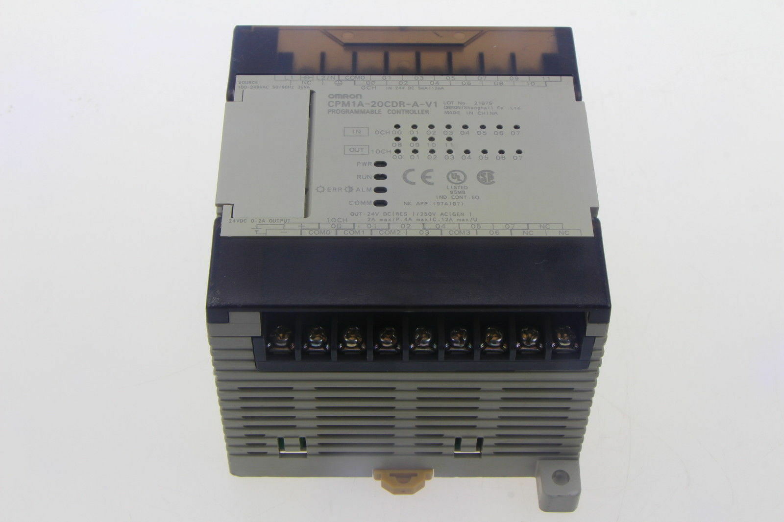 1PCS used Omron CPM1A-20CDR-A-V1 PLC tested