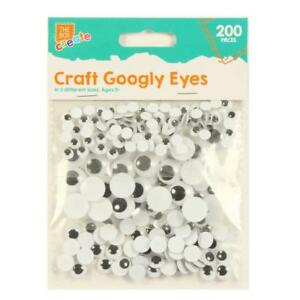 150 Wiggly Wobbly Self Adhesive Googly Eye Art Craft Soft Toy Card Animal School