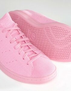 best website c2c93 3b8a5 Details about Adidas Originals | Stan Smith FlyKnit | Pink Remix 14D