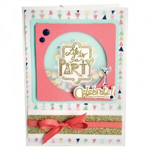 Celebrate #2 by Lindsey Serata 661856 Sizzix Framelits Die Set 8PK w//Stamps