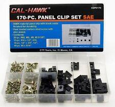 170pc Door Panel U Clip Screw Assortment Kit Set Auto Dash Trim Metal Interior