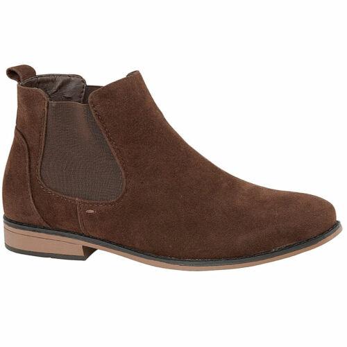 Mens Desert Boots Suede Casual Chelsea Walking Dealer Ankle Smart Fashion Shoes
