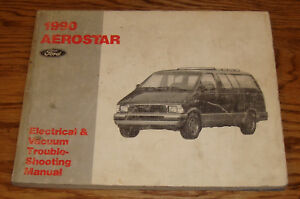 1990 ford aerostar wiring diagram evtm manual 90 ebay Ford Aerostar Parts image is loading 1990 ford aerostar wiring diagram evtm manual 90