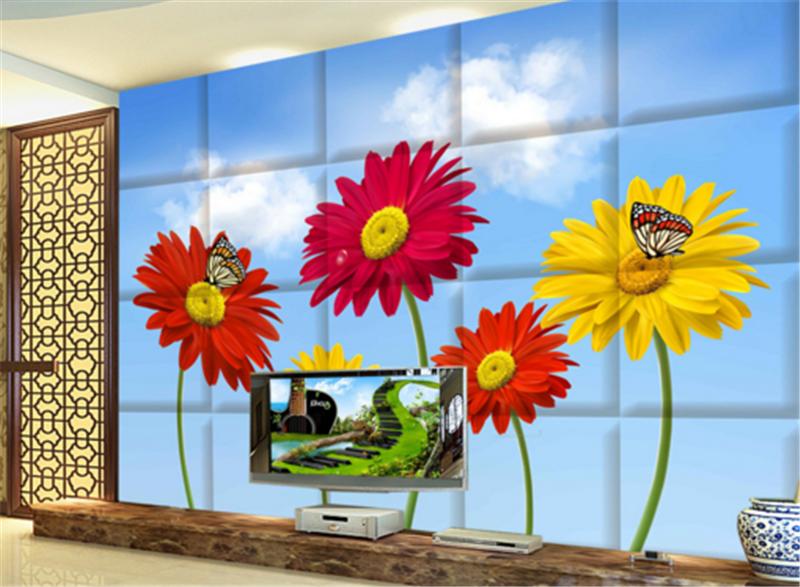 3D Himmel Blumen79 Tapete Tapeten Mauer Foto Familie Tapete Wandgemälde DE Lemon