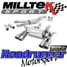 Milltek BMW M3 F80 Saloon Exhaust Cat Back RACE System Quad GT Titanium SSXBM997