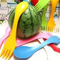 Portable 3 in 1 Spoon Fork Knife Cutlery Set Camping Utensils Spork Tableware