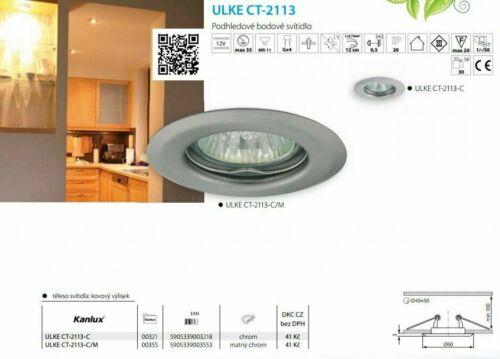 Kanlux ULKE Chrome 60mm MR-11 GU10 Mini LED Spotlight Ceiling Recessed Downlight