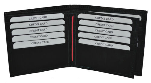 Men/'s Wallet with 16 Credit Card Slots Genuine Leather Special Sale