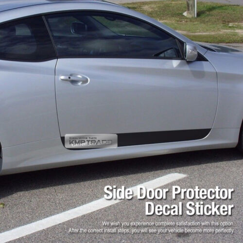 Side Door Protector Decal Sticker Chrome Logo for HYUNDAI 2009-17 Genesis Coupe