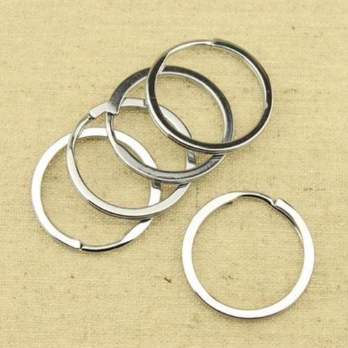 50//100pcs Silver Keyring Stainless Steel Metal Car Key Holder Split Rings 25mm