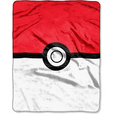 "NEW Pokemon, Red and White 55"" x 70"" Silk Touch Throw Fleece Blanket"