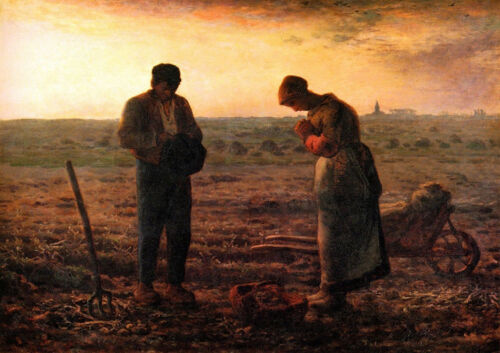 The Angelus by Francois Millet printed on 230gsm photo paper choose size