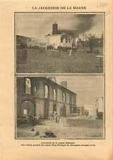 Fire Incendie Maison Vin Bisinger Fabrique Aÿ-Champagne Marne 1911 ILLUSTRATION