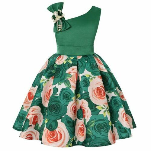 Princess Formal Girl Wedding Tutu Party Bridesmaid Kid Dress Flower Baby Dresses