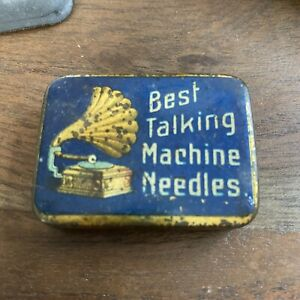 Vintage Gramophone Best Talking Machine Needles needle Tin Nadeldose #MA11