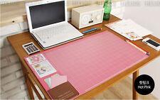"10day Shipping, Basic Hot pink Desk Mat 22x13"" Pad Nonslip Office Organizer"