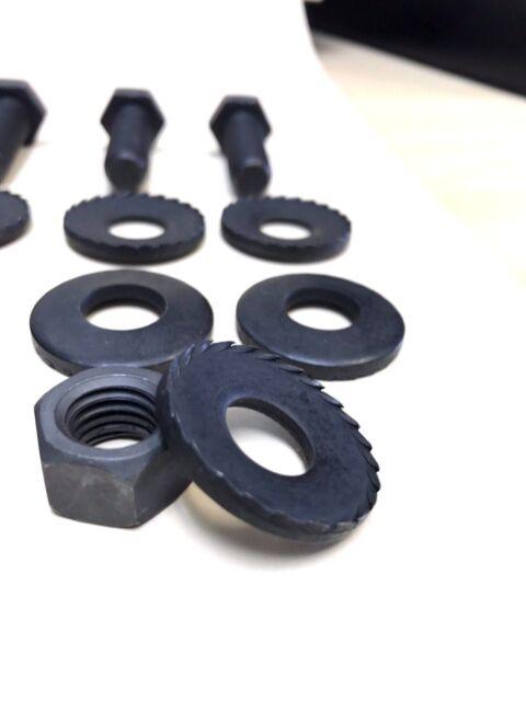 """67-69 GM 1-1/4"""" NOS Bumper Bracket Frame Adjustment Bolts Toothed Washers 16 KIT"""